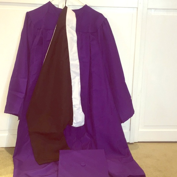 88% off Other Purple Graduation Gown And Hat | Poshmark